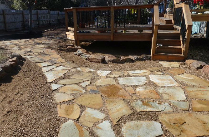 Fort worth grass stone oklahoma dark flagstone Flagstone patios colleyville tx