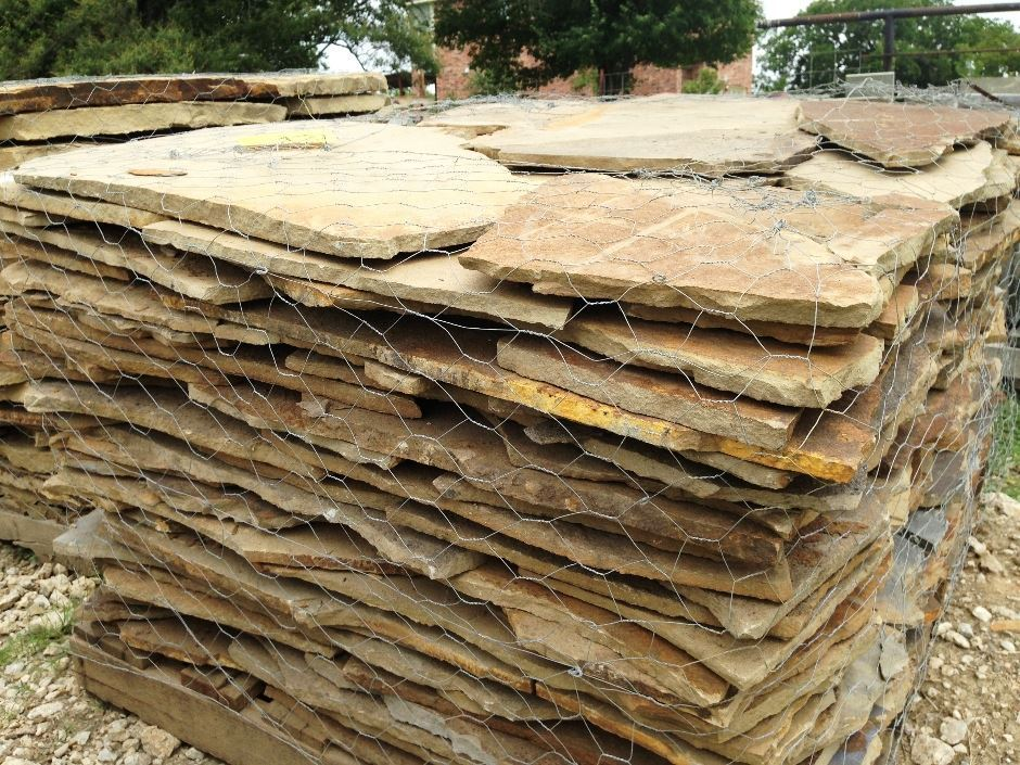 Fort worth grass stone oklahoma flagstone for Landscape rock delivery near me